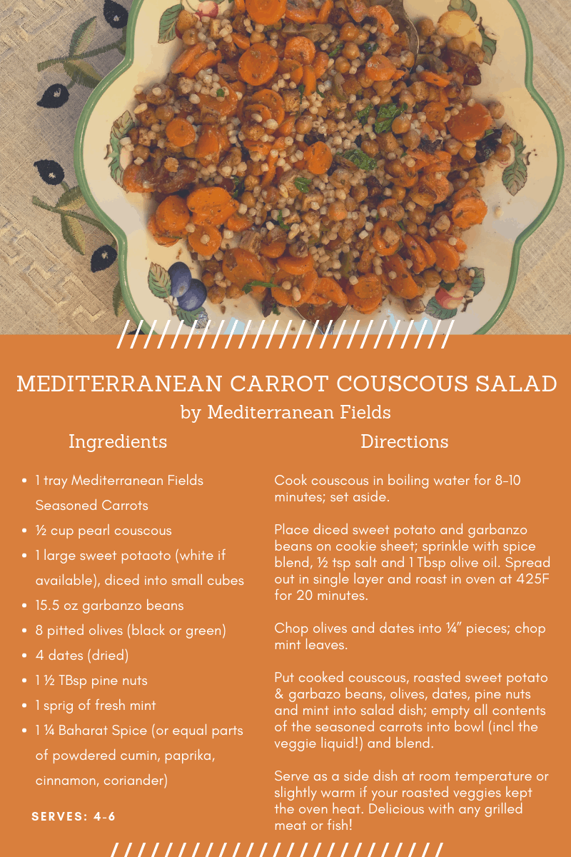 Recipe Card for Mediterranean Carrot Couscous Salad