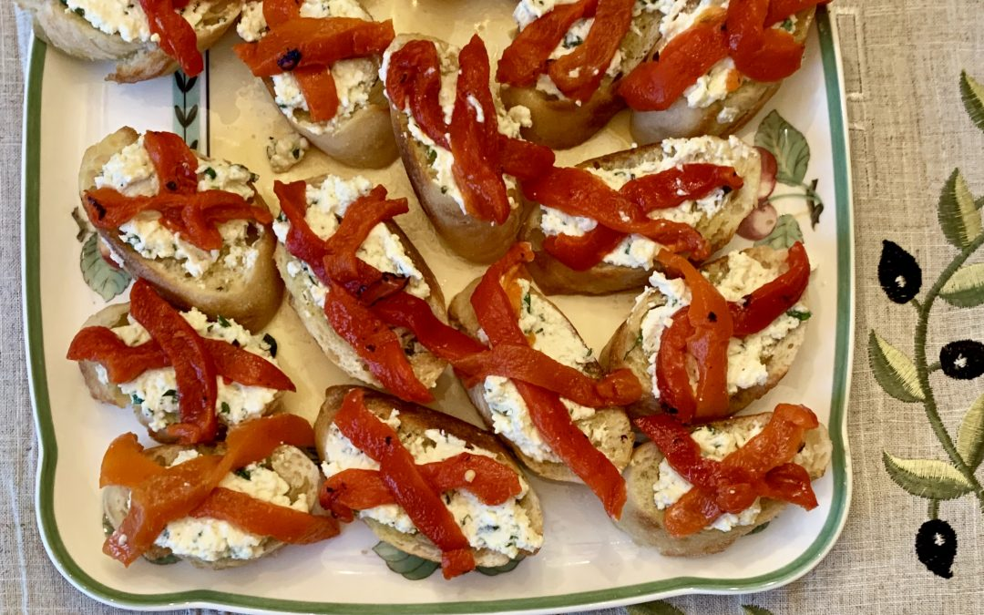 Feta Cheese Bruschetta with Mediterranean Red Peppers