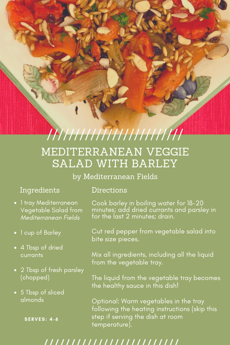 Recipe Card for Mediterranean Veggie Salad with Barley